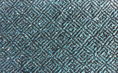 broken diamond twill with carded weft